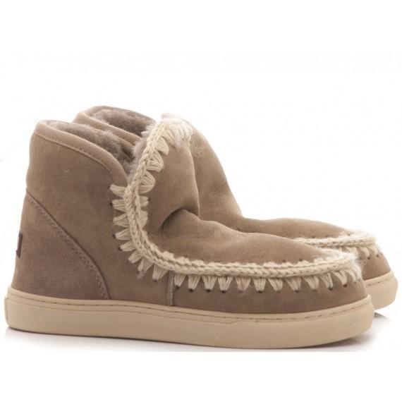 MOU Women's Ankle Boots Eskimo Sneaker Grey