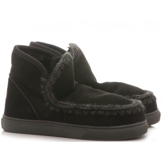 MOU Women's Ankle Boots Eskimo Sneaker Black