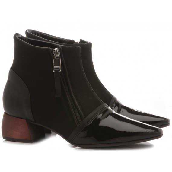 Ixos Women's Shoes Ankle Boots Leather Black