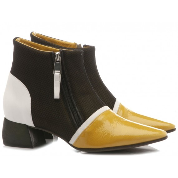 Ixos Women's Shoes Ankle Boots Leather Yellow