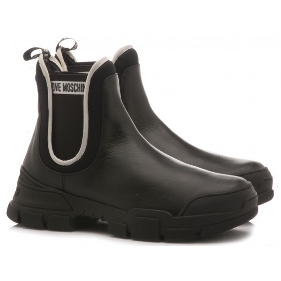 Love Moschino Women's Ankle Boots Leather Black