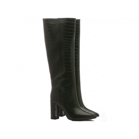 Les Autres Women's Boots Leather Green 1586