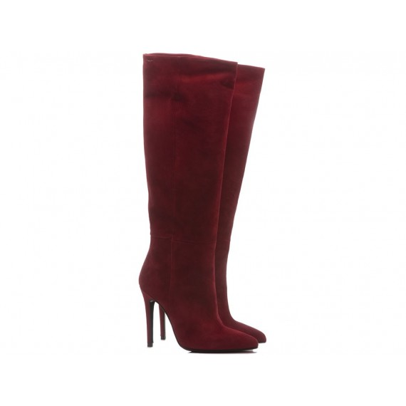 Mivida Women's Boots Suede Red 6872