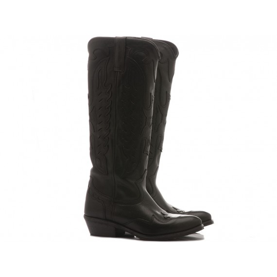Metisse Women's Boots Black Leather Tex813