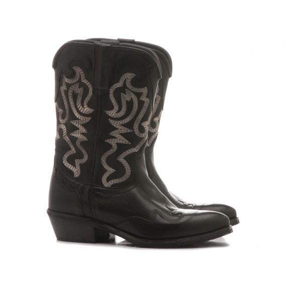 Metisse Women's Boots Black Leather Tex503