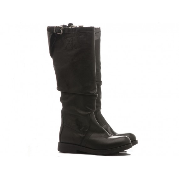 RepKo Women's Boots Black Leather BK6