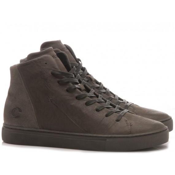 Crime London Men's High Sneakers Kane Grey