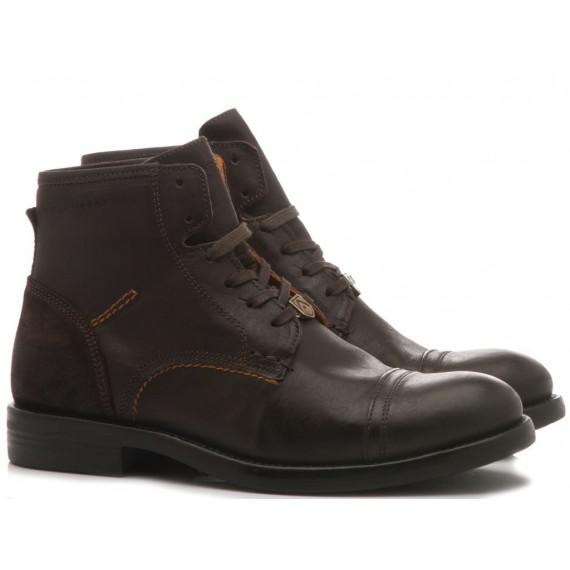 Ambitious Men's Ankle Boots Leather Black 4953-3318AM