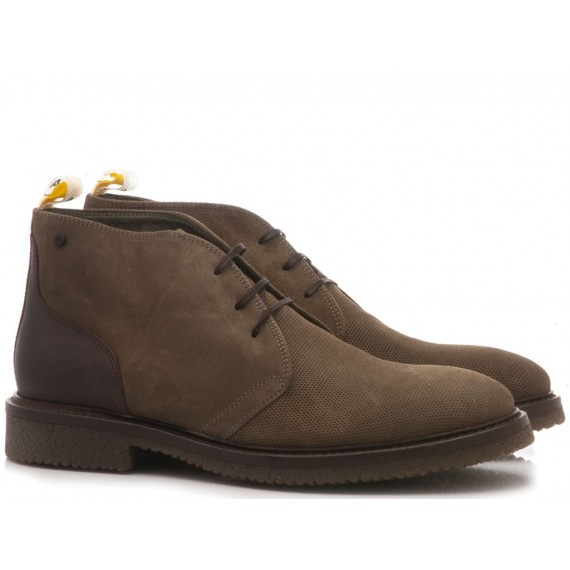 Ambitious Men's Ankle Boots Suede Taupe 7571B-1322AM