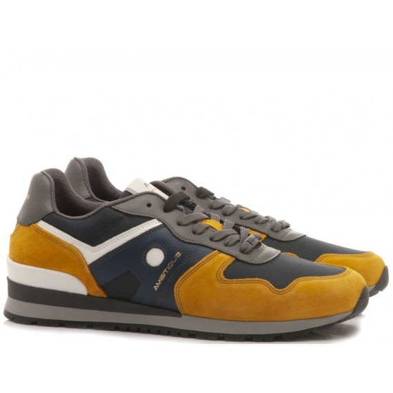 Ambitious Men's Sneakers Suede Yellow-Navy 8095-1386AM