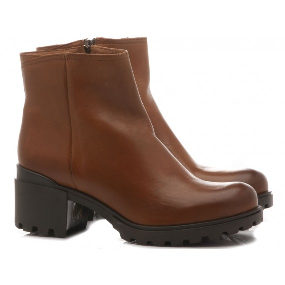 Kammi Women's Ankle Boots Leather 2302 Brown