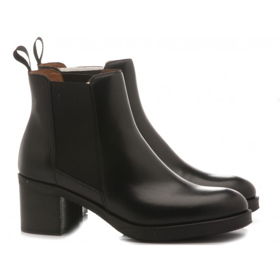 Frau Women's Shoes-Ankle Boots Leather Black 8124
