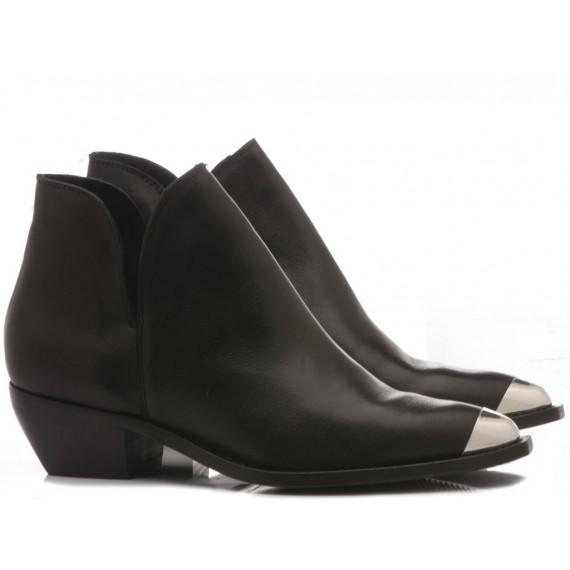 Curiositè Women's Ankle Boots Leather Black 1484P