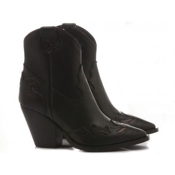 Curiositè Women's Ankle Boots Leather Black 1312