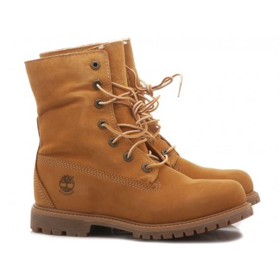 Timberland Women's Ankle Boots Teddy Fleece Honey