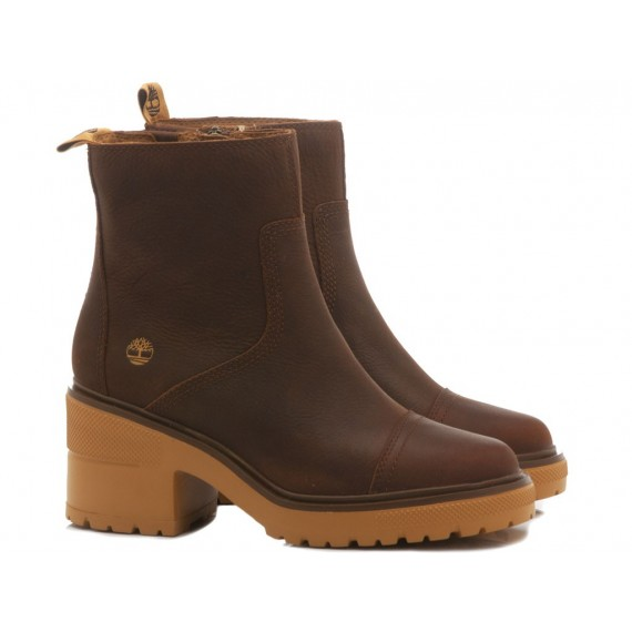 Timberland Women's Ankle Boots Leather Brown
