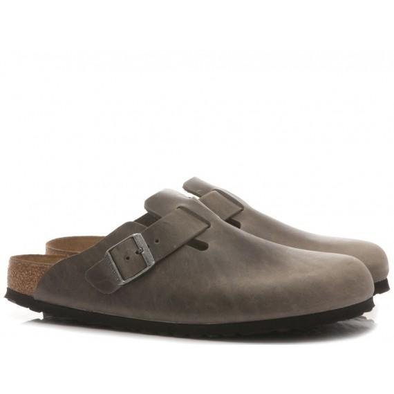 Birkenstock Women's Sandals-Sabot Leather Iron