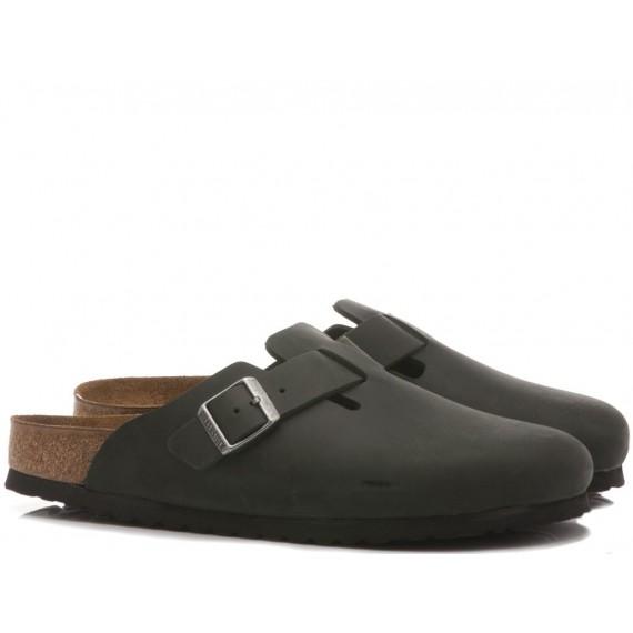 Birkenstock Women's Sandals-Sabot Leather Black