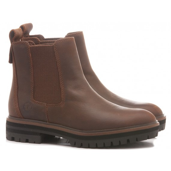 Timberland Women's Ankle Boots London Chelsea Brown