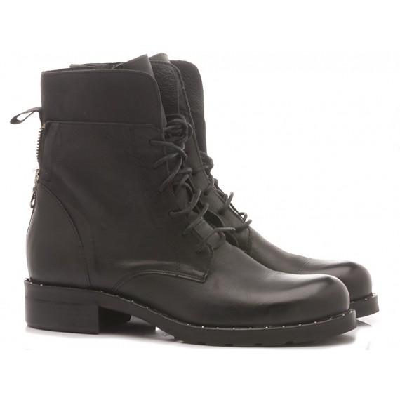 Gaia Shoes Anfibi Donna Pelle Nero Rania05