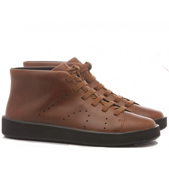 Camper Men's Ankle Boots Leather Brown