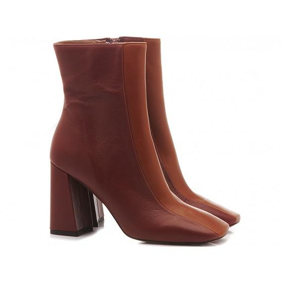 Les Autres Women's Ankle Boots Leather Bicolor 1126