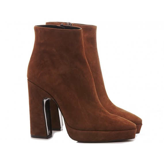Martina T Women's Ankle Boots Suede Tobacco 0202
