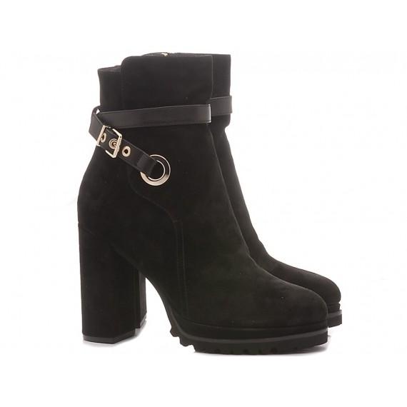 Elvio Zanon Women's Ankle Boots EK3602P Suede Black