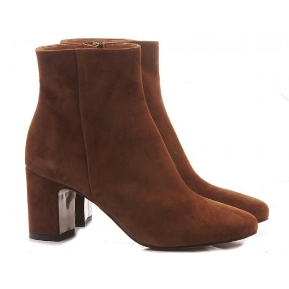 Les Autres Women's Ankle Boots Suede Choco 727