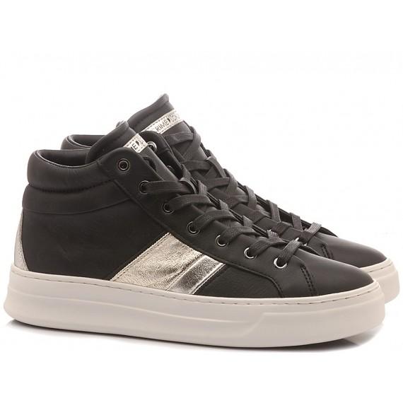 Crime London Women's Sneakers Hoxton Black