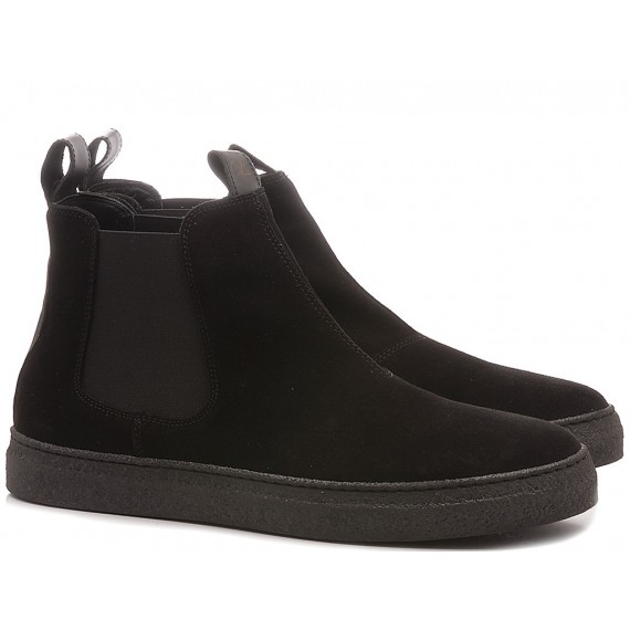 Non-Fashion Men's Ankle Boots Suede Black