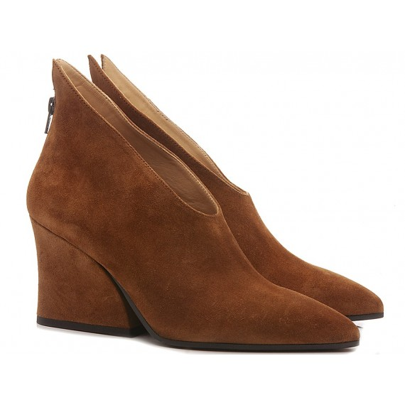 Ettore Lami Woman's Ankle Boots Suede Copper