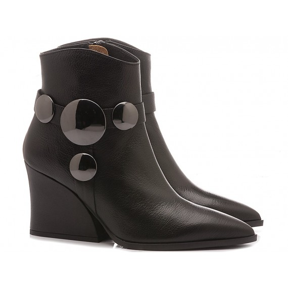Ettore Lami Woman's Ankle Boots Leather Black