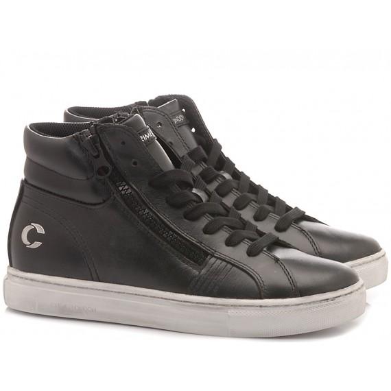Crime London Children's High Sneakers Jason Black