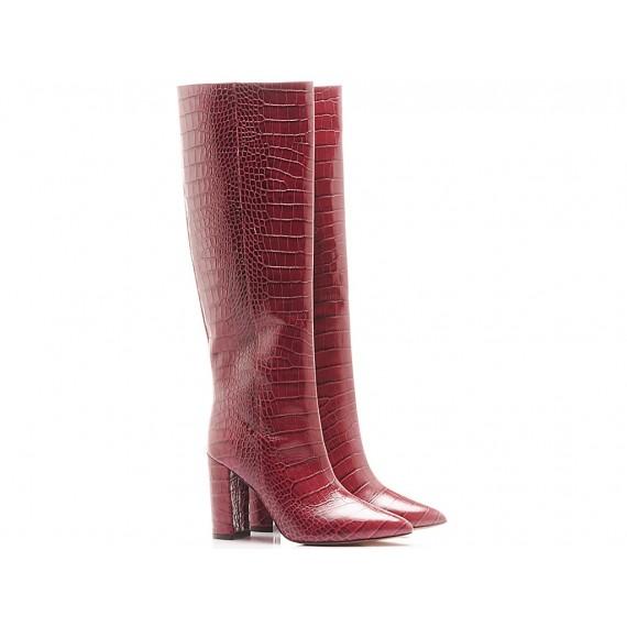Les Autres Women's Boots Leather Bordeaux 1586