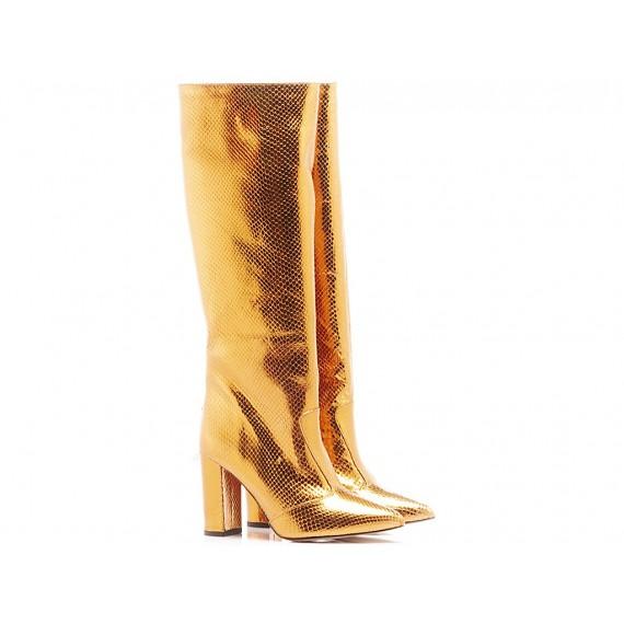 Les Autres Women's Boots Leather Brass 1586