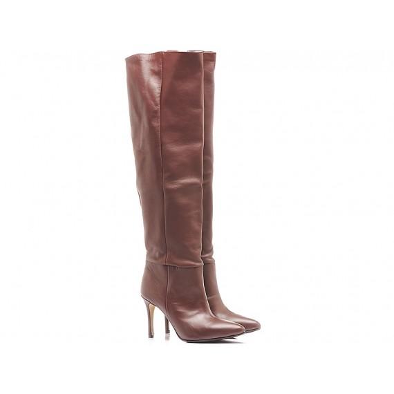 L'Arianna Women's Boots Leather Ebony ST1175