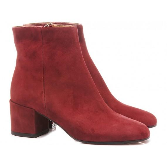 Les Autres Women's Ankle Boots Suede Bordeaux 401