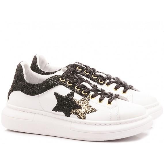 2-Star Women's Low Sneakers White Black