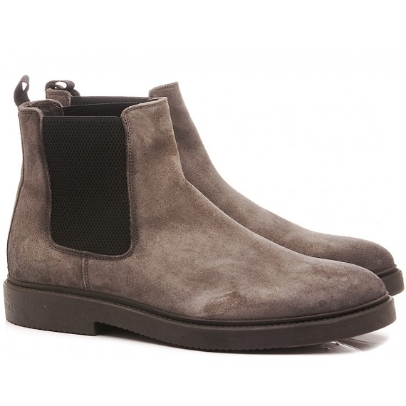 Marco Ferretti Men's Ankle Boots Suede Carbon
