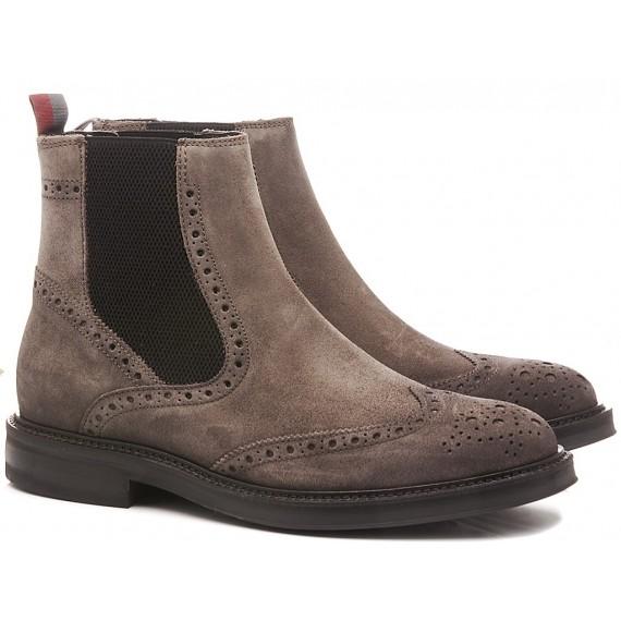 Marco Ferretti Men's Ankle Boots Suede Carbon