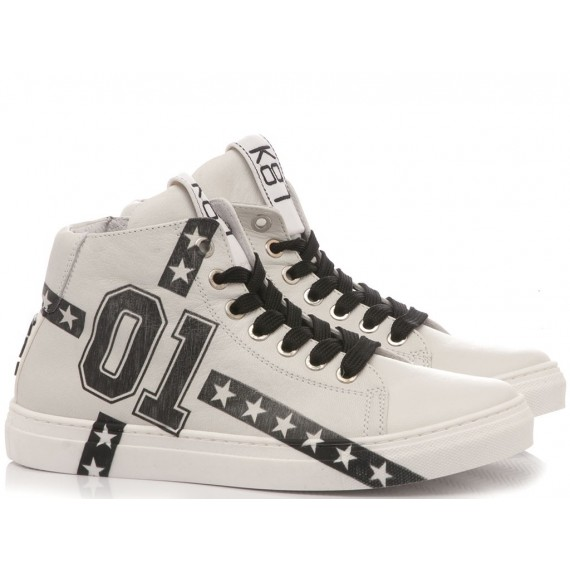 Be Kool Boy's Sneakers White Leather