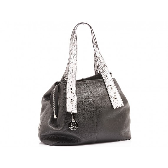 Scarlett Women's Bag Leather Black-Stone