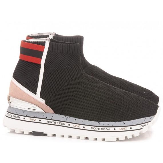 Liu.Jo Women's Sneakers Maxi Alexa 4 Elastic Sock Black