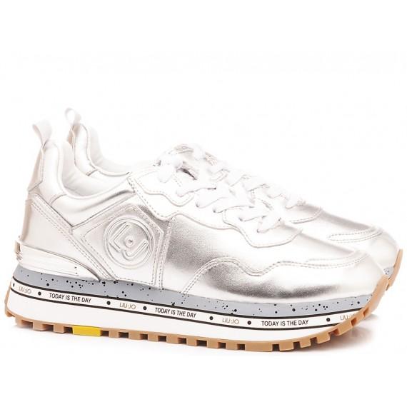 Liu.Jo Sneakers Donna Running Aura Pelle Tessuto Alabaster