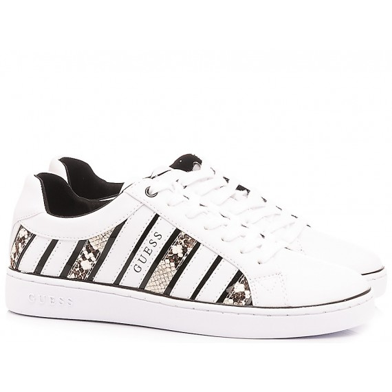 Guess Women's Shoes-Sneakers White-Python
