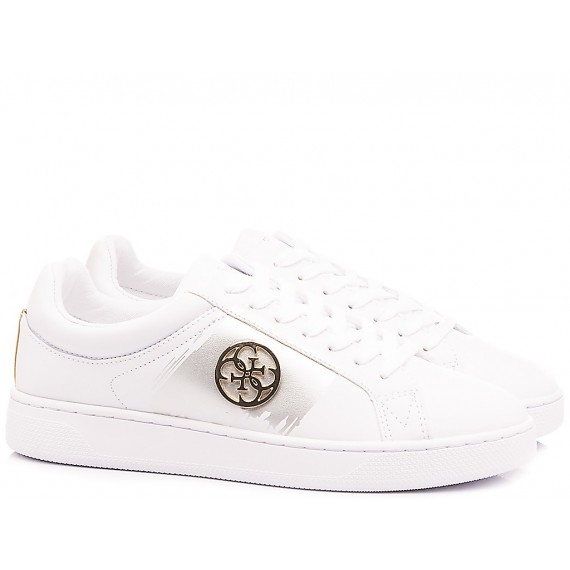 Guess Women's Shoes-Sneakers White-Silver