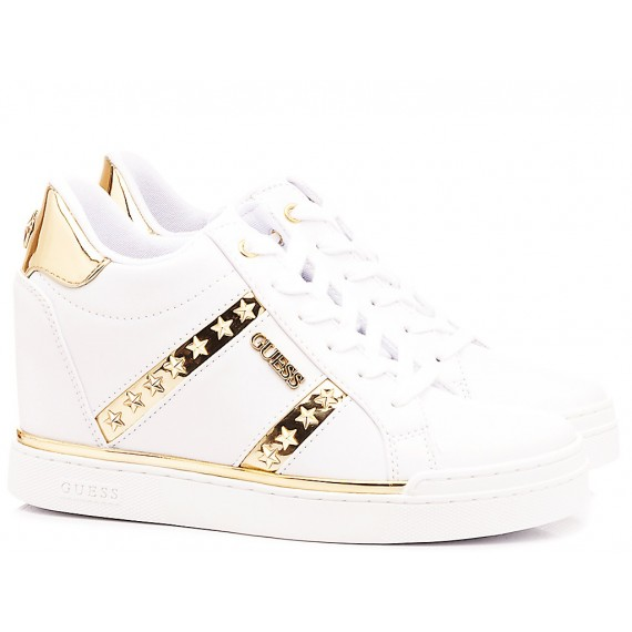 Guess Women's Shoes-Sneakers Wedge Heels White