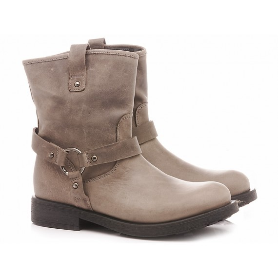 Chiara Luciani Children's Ankle Boots Leather 1917 Taupe