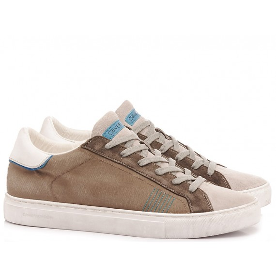 Crime London Men's High Sneakers Beat Taupe